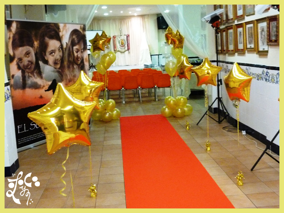 Decoracion con globos proclamaci n fallera mayor infantil - Estrellas decoracion infantil ...