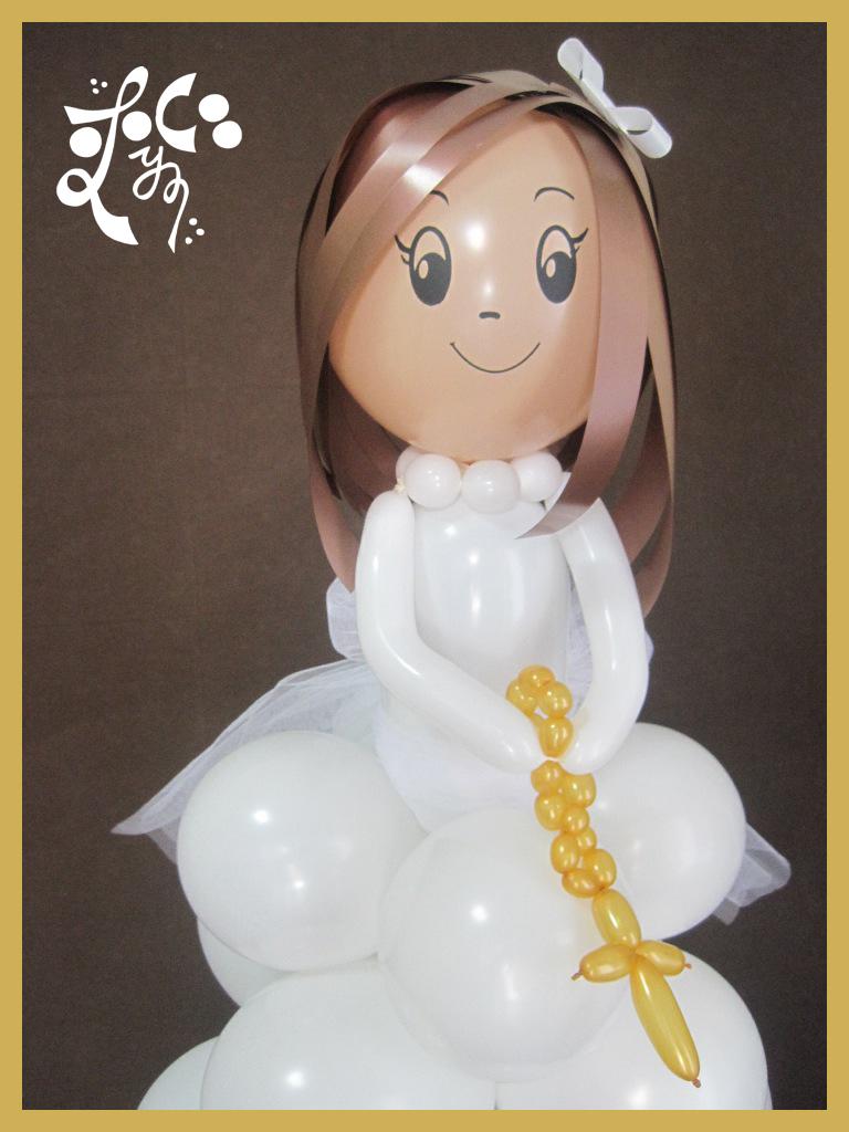 Mu eca de comuni n con globos en valencia eleyce eventos - Hacer munecos con globos ...
