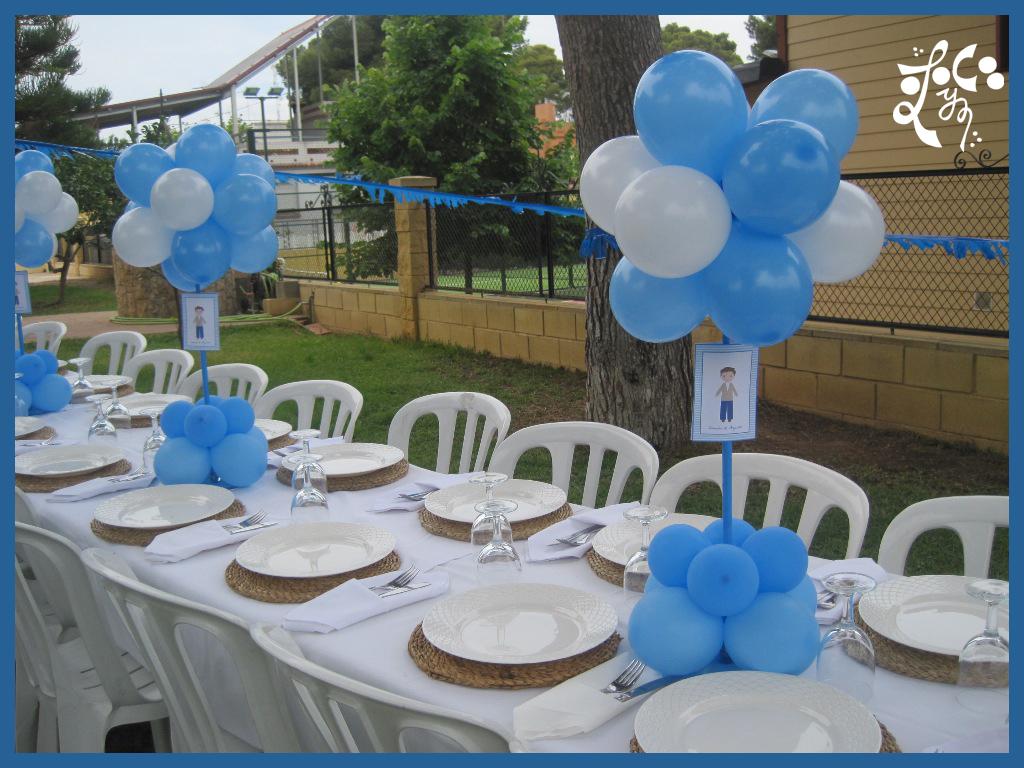 Decoraci n con globos de la primera comuni n en valencia - Decoracion de mesa para comunion ...