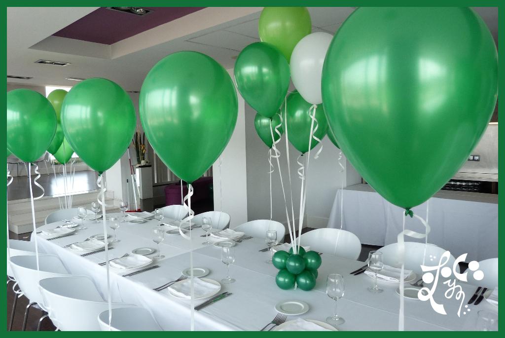 Globos verdes en el hotel ayre astoria valencia eleyce for Decoracion globos valencia