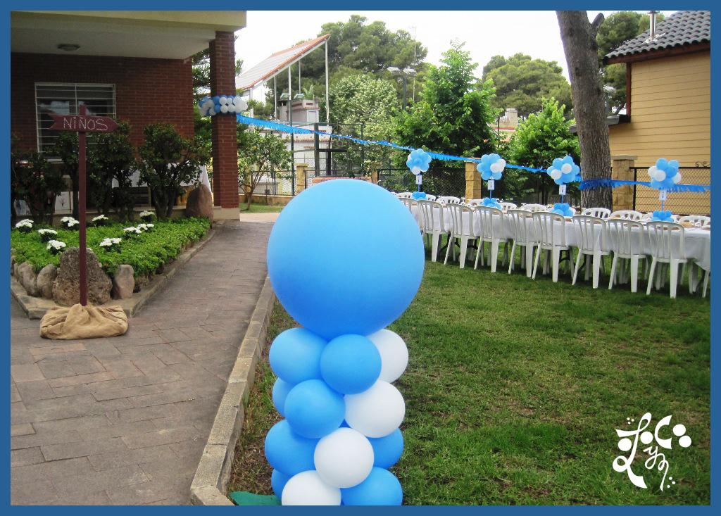 Decoraci n con globos de la primera comuni n en valencia for Decoracion globos comunion