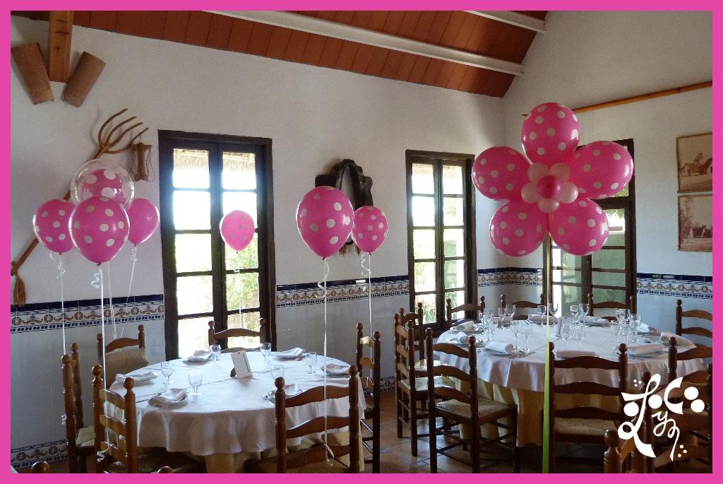 Decoracion con globos comuni n ni a valencia eleyce - Decorar mesas de comunion ...
