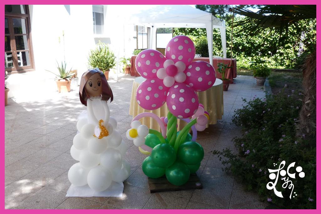 Decoracion con globos comuni n ni a valencia eleyce for Decoracion globos comunion