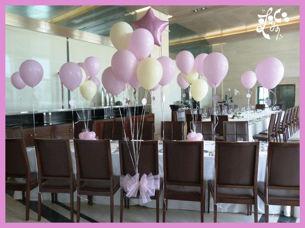 Decoracion con globos para una comuni n eleyce eventos for Decoracion globos comunion