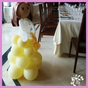 Decoracion con globos para una comuni n eleyce eventos for Decoracion globos valencia