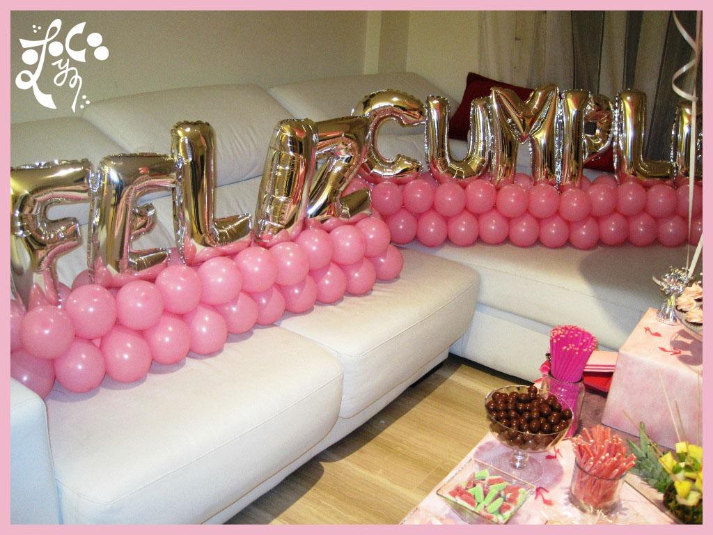Decoracion con globos cumplea os sorpresa eleyce eventos - Fiestas sorpresas de cumpleanos originales ...