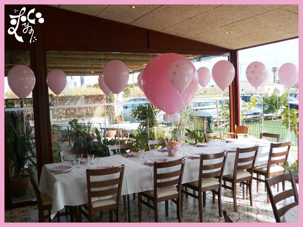 Decoraci n con globos de un bautizo eleyce eventos for Decoracion globos valencia