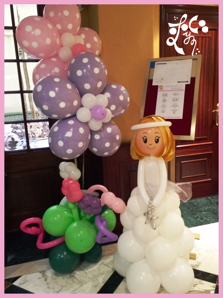 Decoraci n globos comunion valencia eleyce eventos for Como hacer decoracion con globos