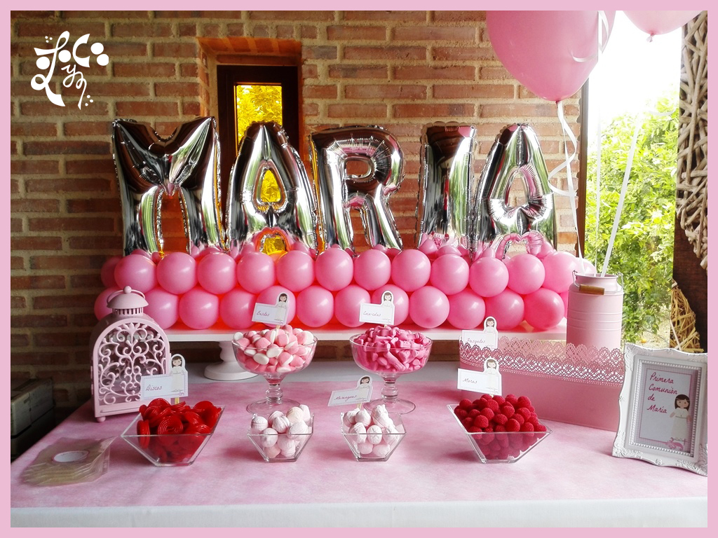 Mesas dulces eleyce comuniones valencia eleyce eventos - Preparar mesa dulce para comunion ...