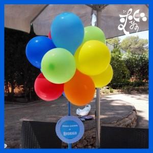 Centro de mesa de globos en comunión en Valencia