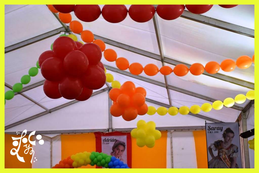 Decoracion globos merienda presidente infantil lego for Decoracion globos valencia