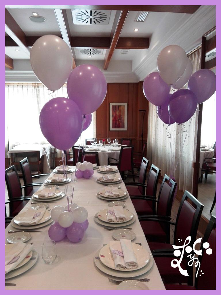 Decoracion con globos mesa ni os comunion valencia for Decoracion globos valencia