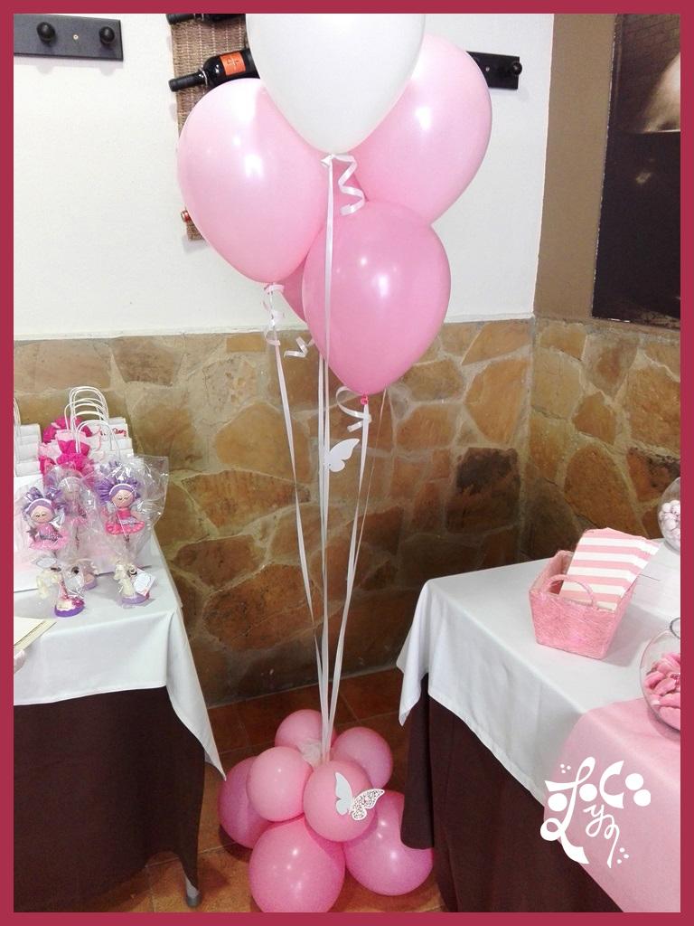 Decoracion con globos rosas comunion ni a valencia las for Decoracion globos valencia