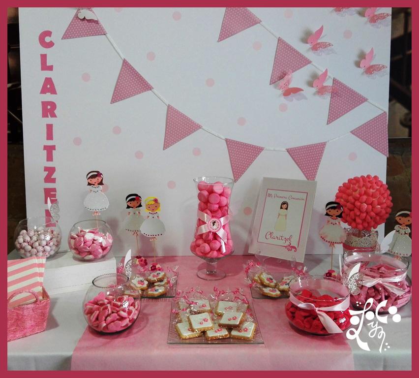 Mesa dulce comunion ni a rosa las viandas valencia for Mesas dulces comunion nina