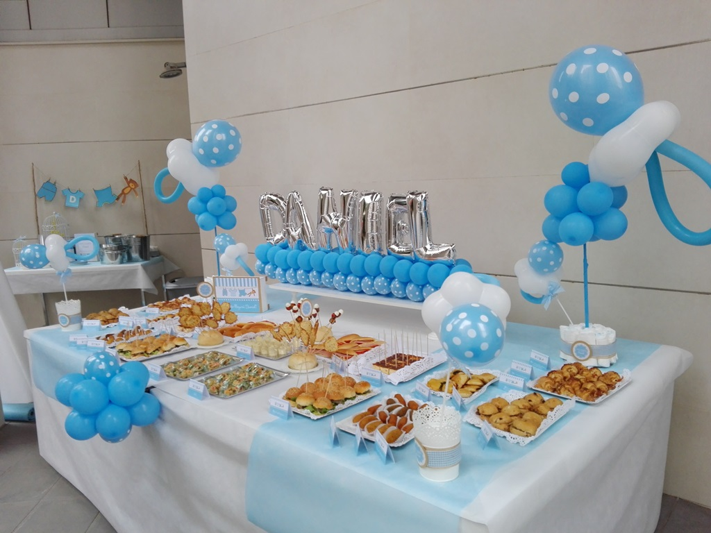 Decoracion con globos baby shower valencia eleyce for Decoracion para baby shower en casa
