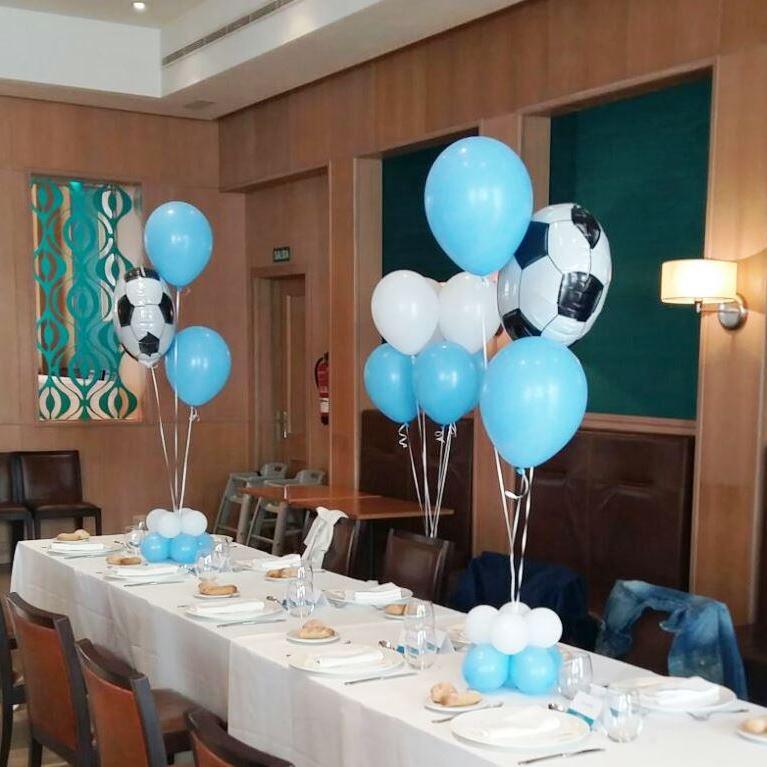 Decoracion con globos futbol hotel westin valencia for Decoracion globos valencia