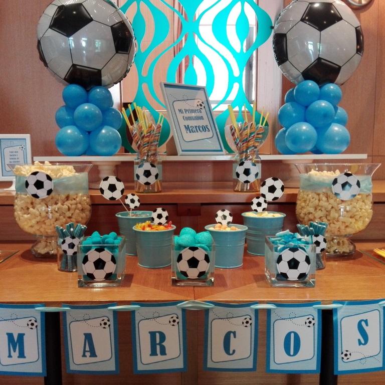 Decoracion Con Globos Mesa De Chuches Futbol Hotel Westin Valencia