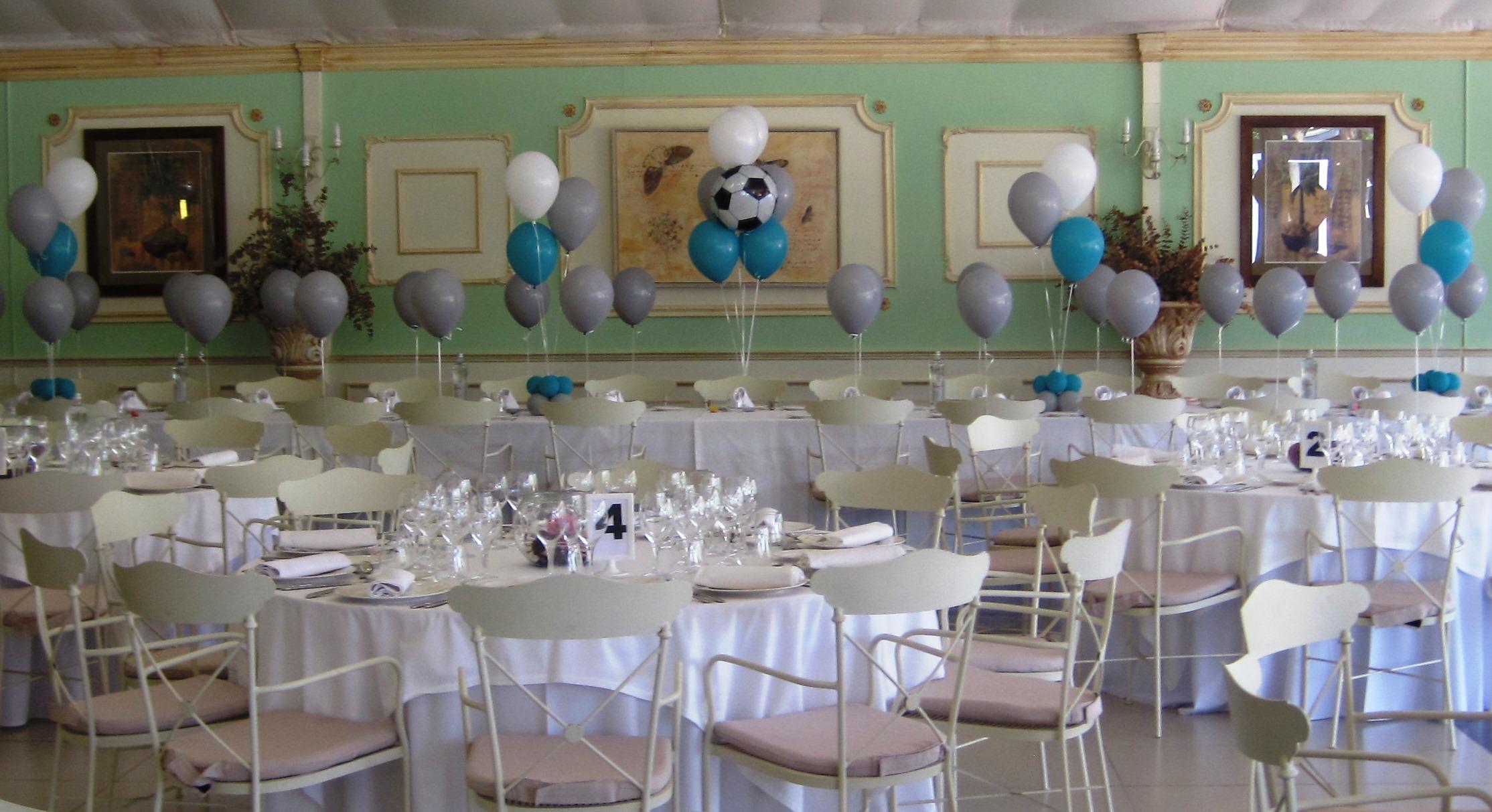 Decoraci n con globos comunion ni o valencia masia de lacy for Decoracion globos valencia