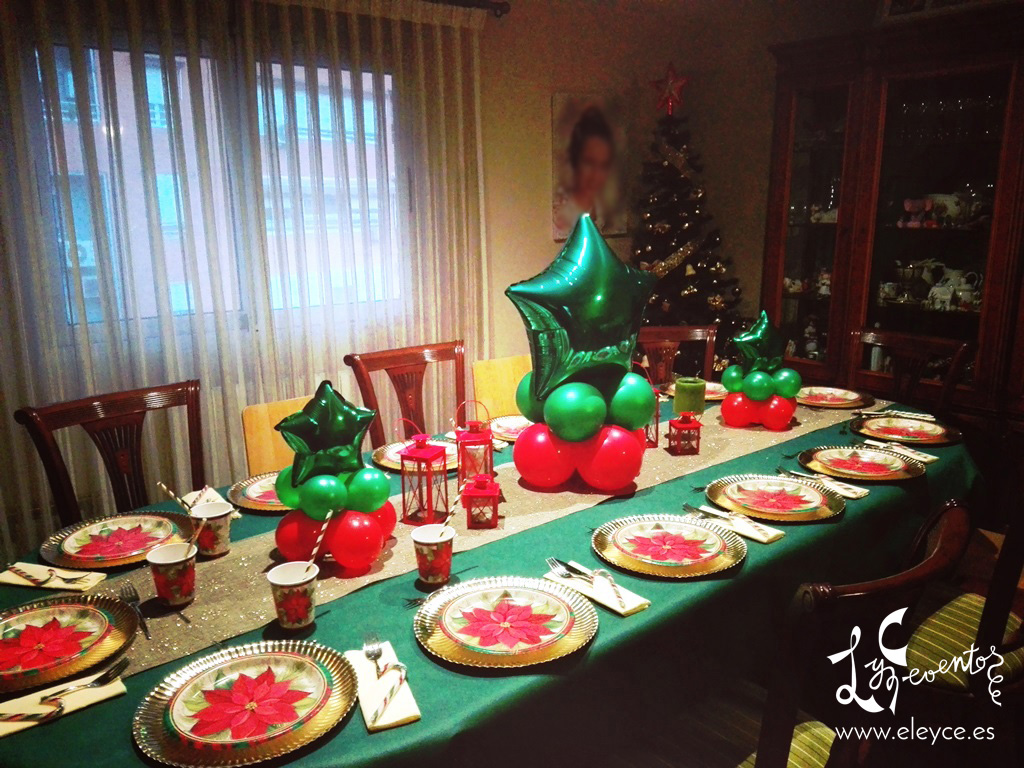 Decoracion con globos mesa navidad eleyce eventos valencia - Decoracion mesa navidad ...