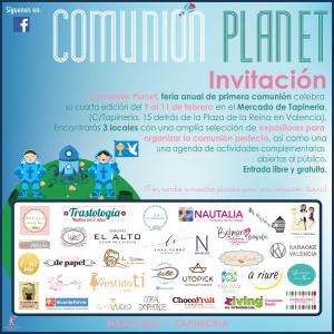 Invitacion Comunión Planet 2018
