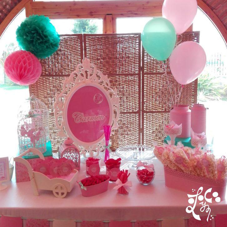 Bautizo eleyce eventos valencia for Mesa de dulces para bautizo de nina