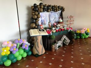 DECORACION CON GLOBOS CANDY BAR